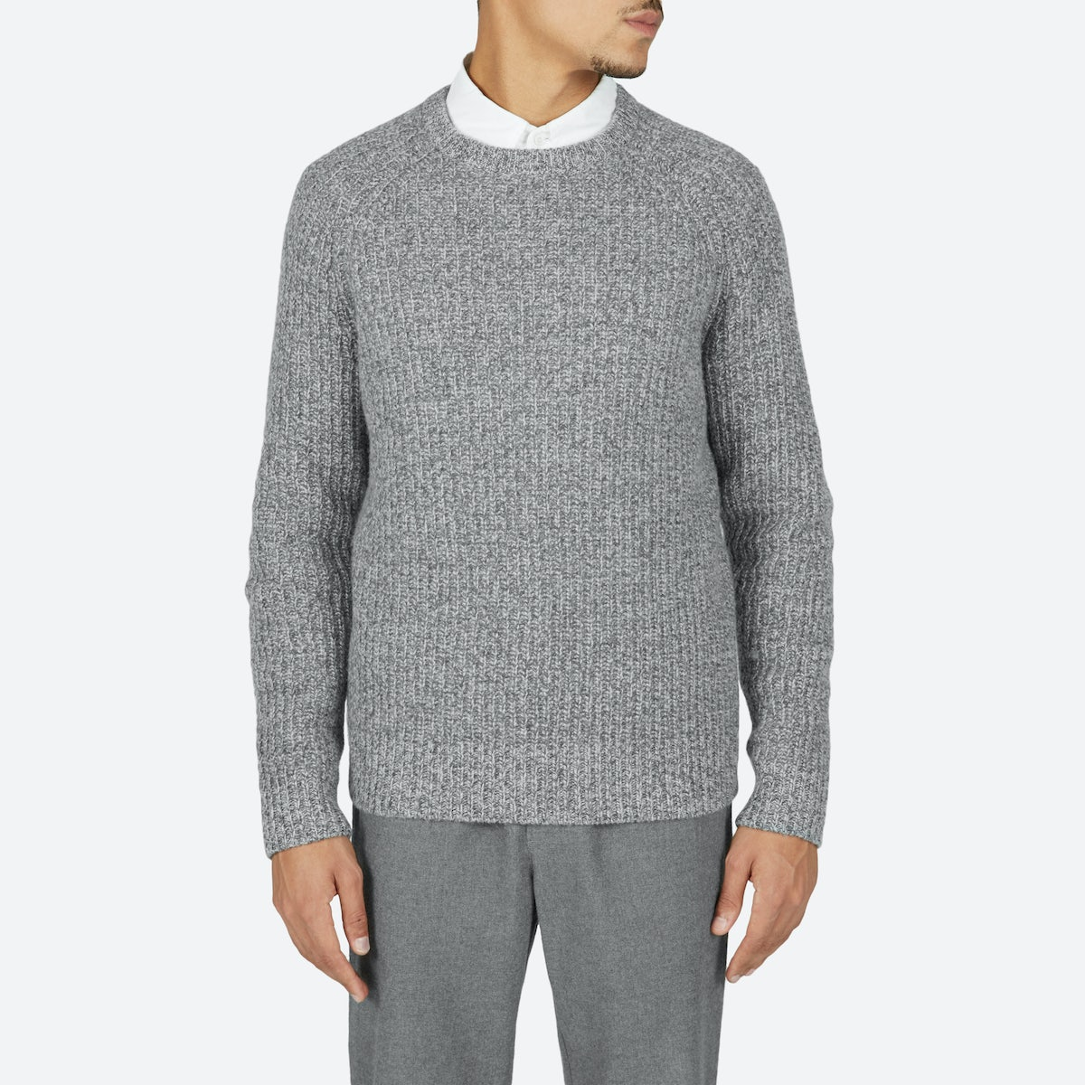 Men's Ribbed Wool-Cashmere Crew | Everlane