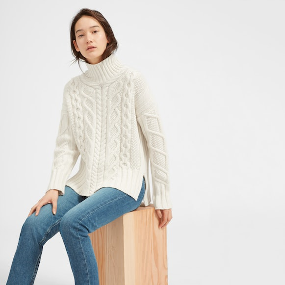 Women's Wool-Cashmere Oversized Cable Turtleneck | Everlane