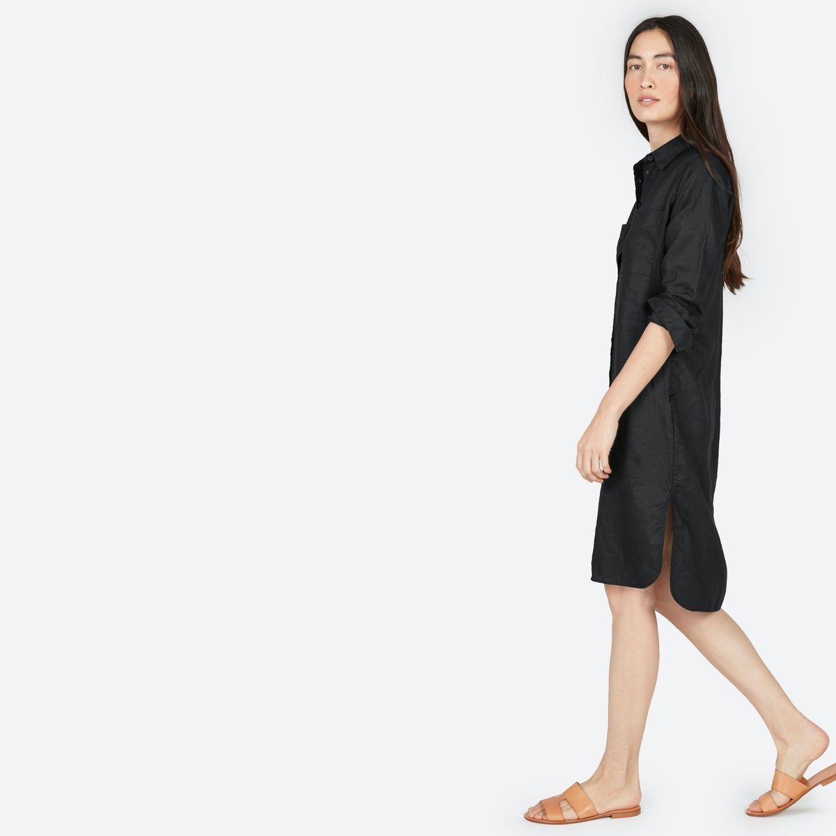 Black shirt dress - The Linen Shirt Dress 78