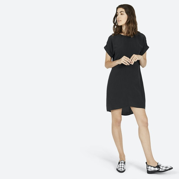 The Silk Short-Sleeve Dress - Everlane