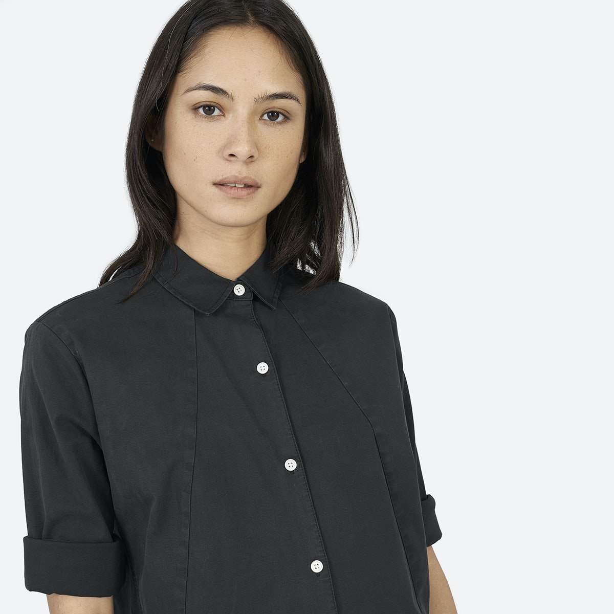 Black shirt dress - The Twill Shirt Dress 85