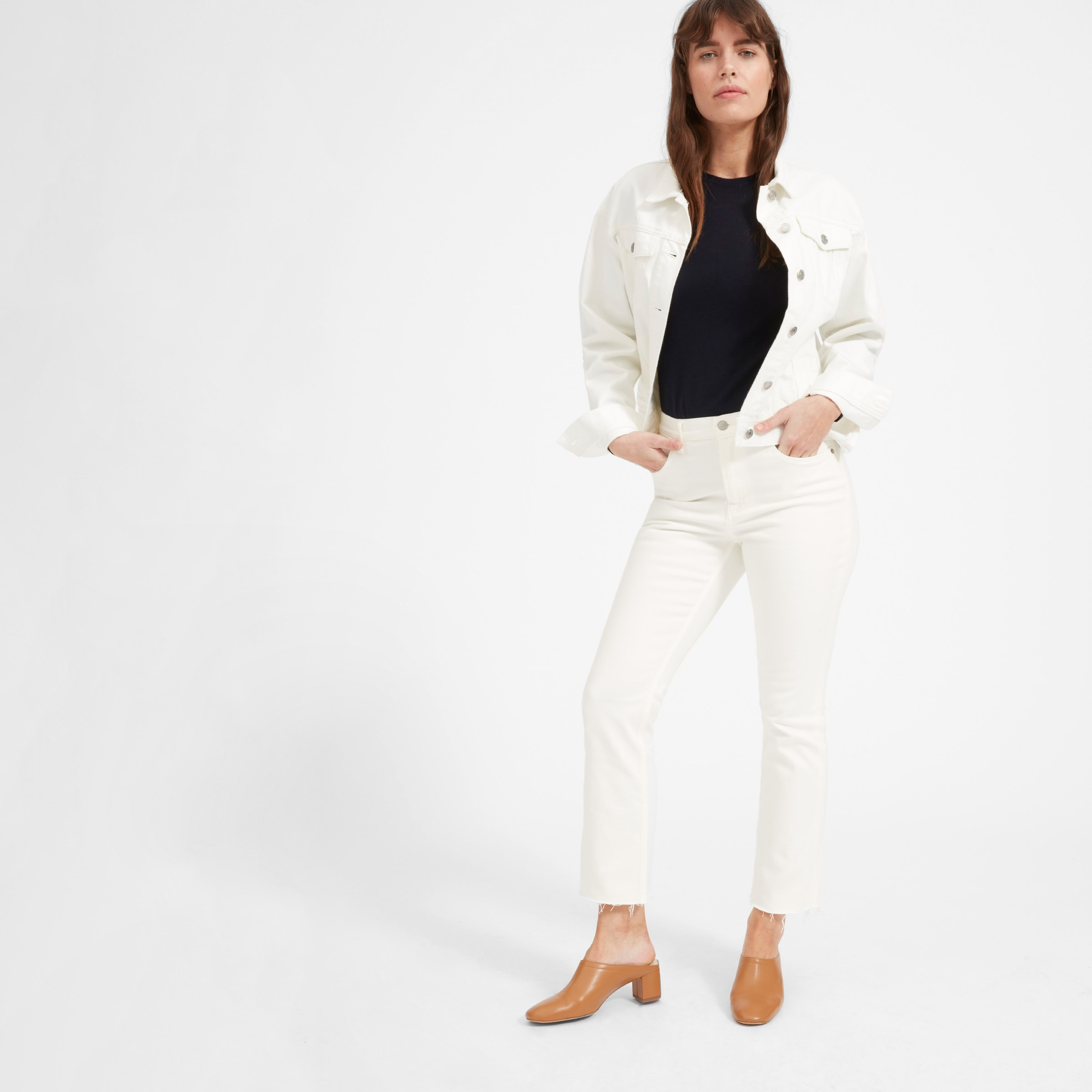 Everlane Kick Crop white Jean
