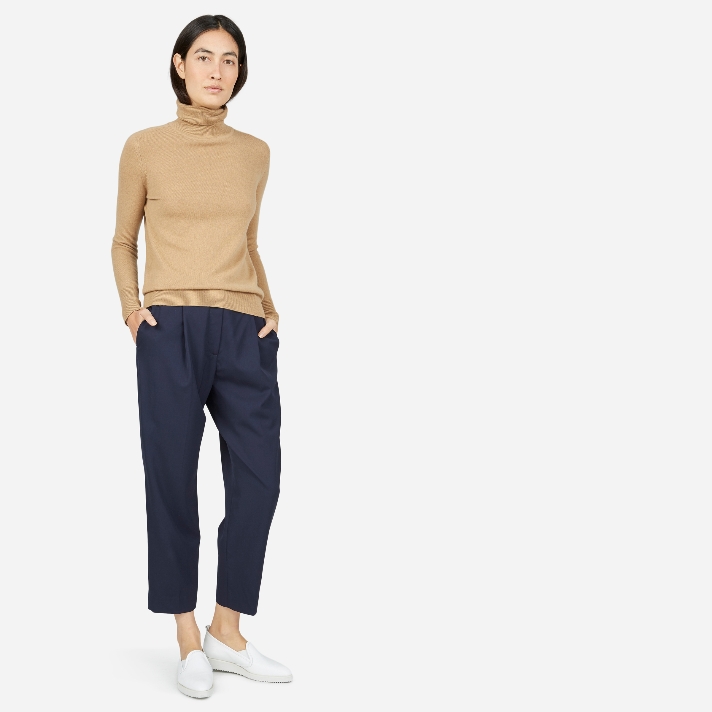 The GoWeave Slouchy Pant - Dark Navy