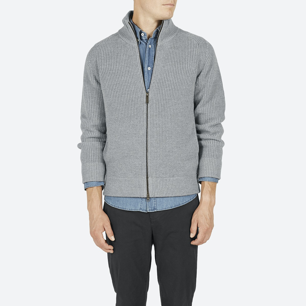 Men's Ribbed Zip Cardigan | Everlane
